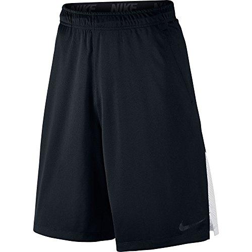 New Nike Men's Hyperspeed Knit Shorts Tumbled Black/White/Black Large