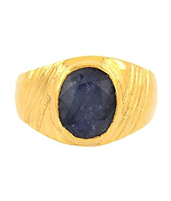 Skyjewels Adult 4 25 Ratti Neelam Astrological Ring As Saturn Planet