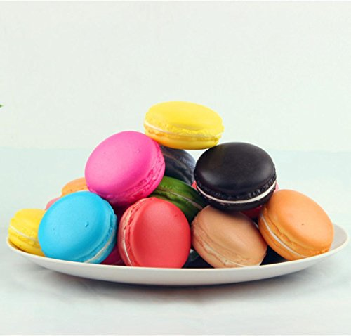 [SimulationGallity Macaron Food Squishy Super Slow Rising Kid Toy Decompression Toys] (30 Second Costumes)