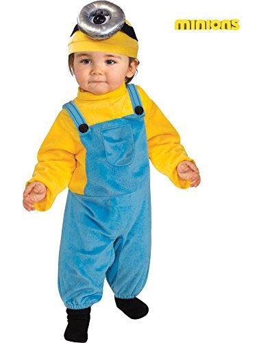 Rubie's Costume Co Baby Boys' Minion Stewart Romper Costume, Yellow, Toddler (3T-4T)