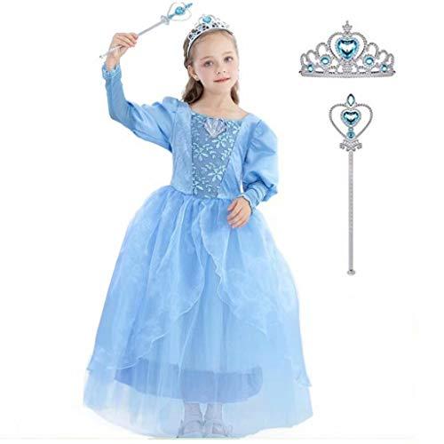 Szytypyl Princess(Aurora,Belle,Cinderella,Jasmine) Costume Set Outfits for Toddler Girls Birthday Halloween -