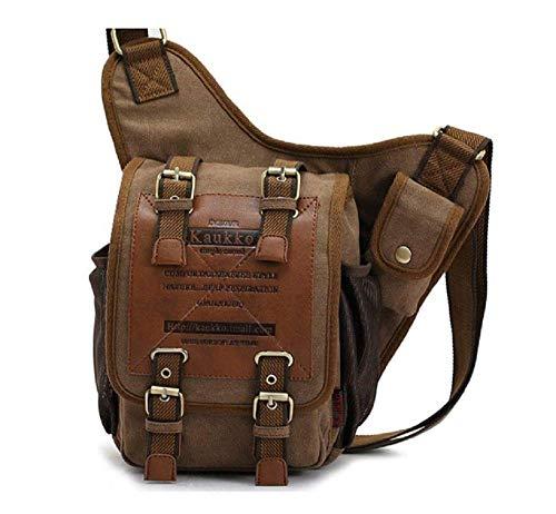 KAUKKO Handmade Organic Cotton Brown Messenger Bag (SB1)