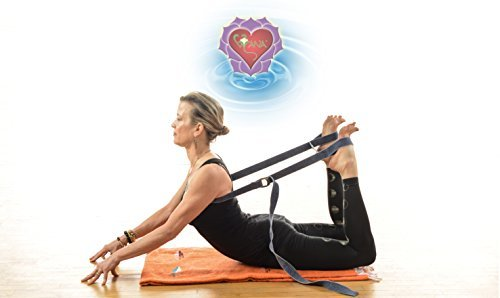 ALL IN ONE Yoga Strap and Mat Carrier - HastaPada® the hand to foot Mobility and PT Strap