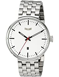 Vestal Unisex ROS3M003 Roosevelt Metal Analog Display Analog Quartz Silver Watch