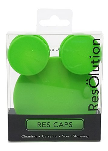 ResOlution Caps Universal Caps for Cleaning, Storage, and Odor Proofing Glass Water Pipes/Rigs and More - Green
