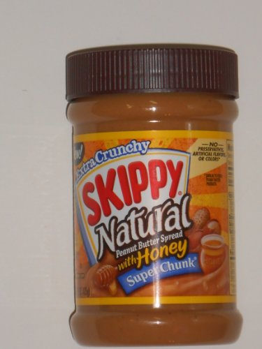 Honey Butter Spread - Skippy Natural Peanut Butter Spread with Honey Super Chunk (Pack of 6)