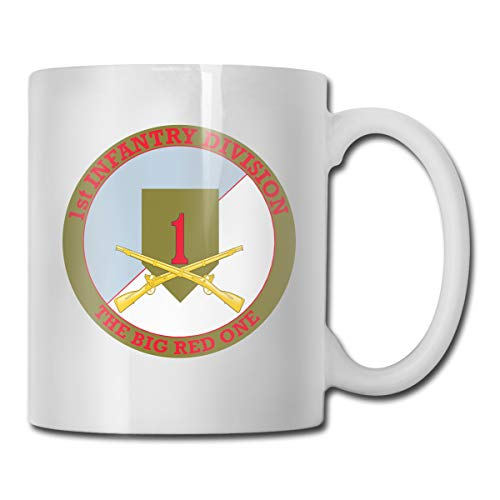 (VRKKDCAP 1st Infantry Division with Crossed Rifles Funny Novelty Gift Mug White Coffee Mug)