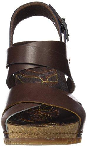 Abierta Mujer Punta Con 1331 brown Güell Art Para Marrón Mojave Sandalias IXq8HqYw