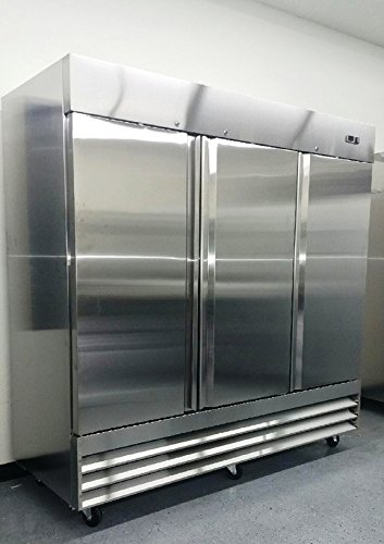81'' Upright Stainless Steel 3 Door Commercial Freezer, 72 Cubic Feet, CFD-3FF, for Restaurant by CFD-3FF