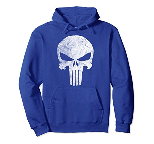 a1f2585e1 Marvel Punisher Skull Symbol Distressed Graphic Hoodie