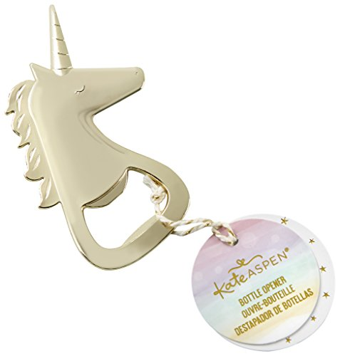 Kate Aspen 11318GD Enchanted Unicorn Fantasy Shiny Bottle Opener one size multicolor ()
