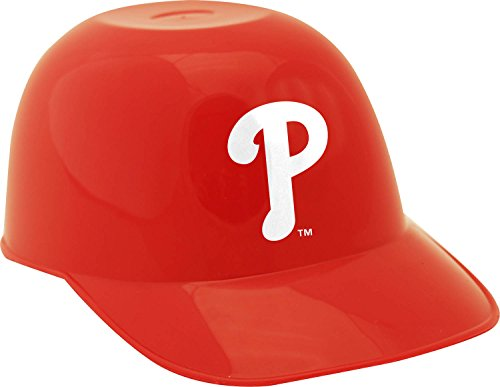 Jarden Sports Licensing MLB Philadelphia Phillies Ice Cream Size Six Pack Helmet Snack Bowl, Mini, Red