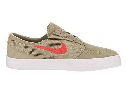 Nike Mens Sb Zoom Janoski Ht Scarpa Da Skate Kaki / Pista Rossa