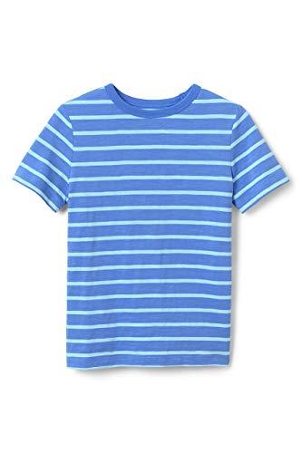 Lands' End Boys Husky Stripe Slub T Shirt