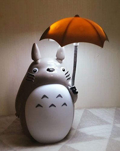 Totoro Anime LED Night Light[White Belly], Kid's Character Lamp USB Charge, Desk Night Table Reading (Halloween Happy Hour Dc)
