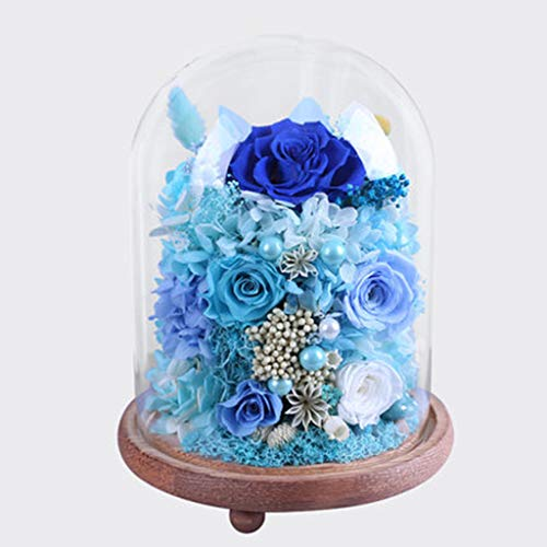 - Eternal Flower, Glass Cover, Rose Flower, Flower Decoration, Never Fade, Flower, Birthday Gift,15