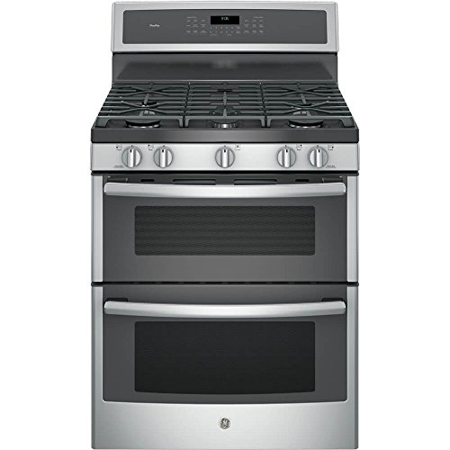 "GE PGB960SEJSS Profile 30"" Stainless Steel Gas Sealed Burner Double Oven Range"
