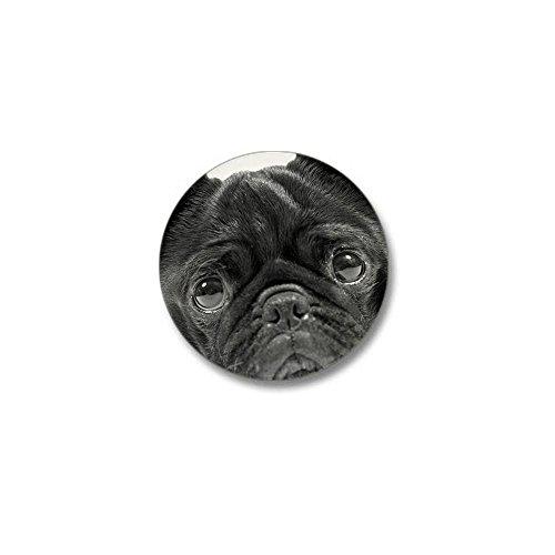 CafePress - Black Pug Mini Button - 1