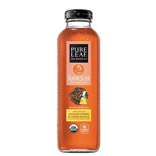 Pure Leaf Tea House Collection, Organic Iced Tea, Sicilian Lemon & Honeysuckle, 14 Ounce (8 - House Ice