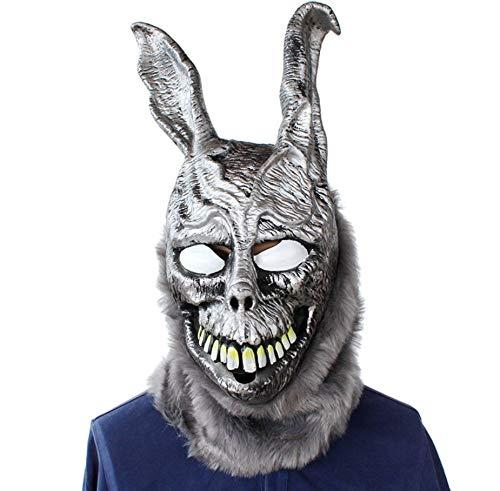 Donnie Darko Frank the Bunny Mask Latex Overhead with Fur Scary Animel Rabbit Mask.Halloween Rabbit MASK Latex Overhead With Fur Halloween Prop.Free size.