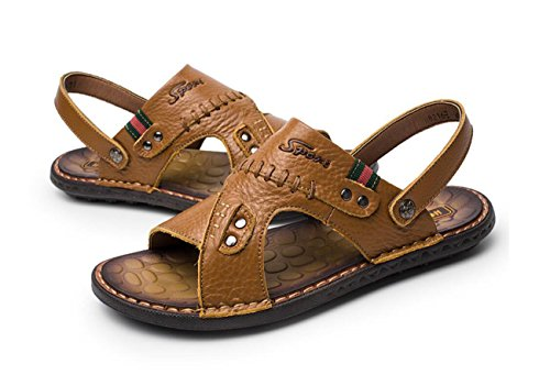 Scarpe DANDANJIE Flip di 2 Sandali Modi da Flop Uomo da Spiaggia Brown Traspiranti Sportivi Infradito Light Sandali indossarli gddqrw