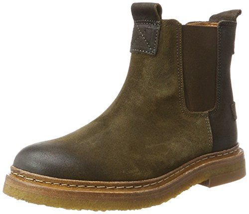 Shabbies WoMen Amsterdam Chelsea Boots Green (Dark Olive 7002)