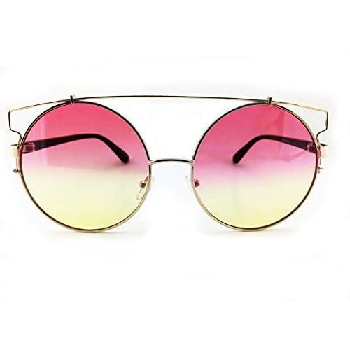 high-quality OVERSIZED Technologic Sunglasses Metal Frames Big Round ...