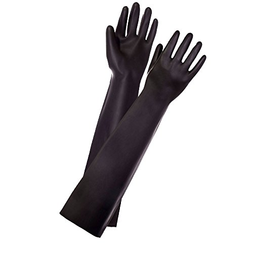 Long Black Latex Gloves Fetish Fisting Sexy -