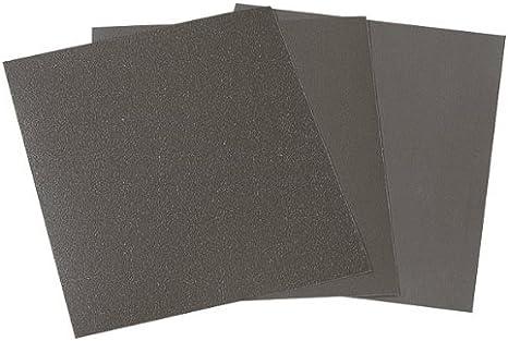 Wolfcraft 3119000 16 Bogen Na/ß-// Trocken-Schleifpapier Korn 280,400,600,1000; SB-verpackt 230 x 280