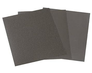 Wolfcraft 2870000 - Pliego papel de lija seco/al agua, grano 120, sueltos 230 x 280 mm 794632