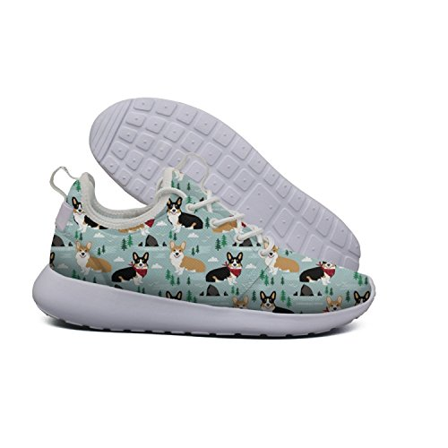 Absorbing Boston Corgi running And Euixo Flowers Tricolored Shock shoes Terrier Workout vintage lightweight womens fqqpFW4A