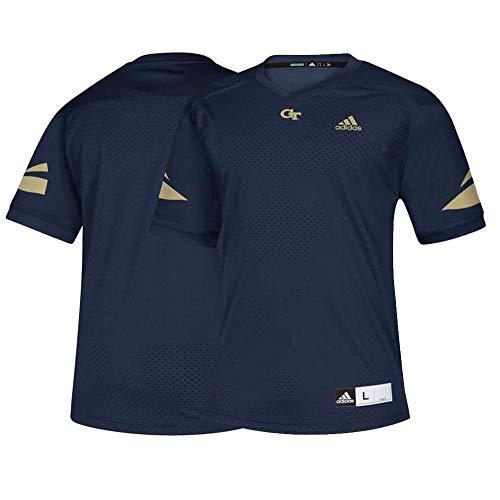 adidas Georgia Tech Yellow Jackets NCAA Men's Navy Blue Official Football Replica Jersey (L)
