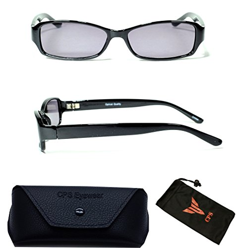 (#FR6109) Men & Women Casual Style Frame Plastic Sun Reader Reading Glasses And Sunglasses Eyewear for Outdoor + Cleaning Cloth (NOT BI-FOCAL Glasses)(Black - Glasses Precription