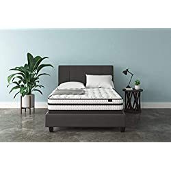 Ashley Furniture Signature Design - 10 Inch Chime Express Hybrid Innerspring - Firm Mattress - Bed in a Box - Queen - White