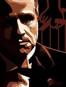 El Padrino Vito Corleone Pop art estilo de pintura al óleo 28x 16pintado a mano obra de arte, NO un Giclée, cartel o lona impresa. Esta es una hermosa pieza de arte basado en el clásico película. Pinceladas y textura son evidentes y es menos una masa producido cartel y más una obra de arte. Enmarcado, pero lienzo solo es también disponible