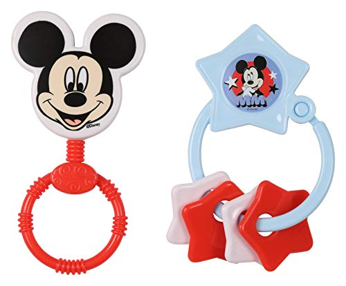 Disney Mickey Mouse Combo Pack Character Rattle & Keyring Teether, Mickey ()
