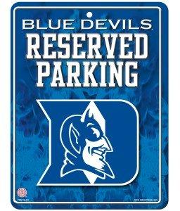 NCAA Duke Blue Devils Hi-Res Metal Parking Sign
