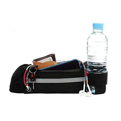SwapGeo Sportieve heuptas voor dames en heren met verstelbare tailleband, modieus, zwart, voor hardlopen, met…
