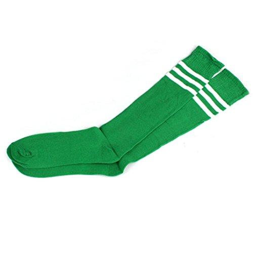 Socks,toraway Girls Womens Cheerleader Over Knee Thight High Socks (Green)