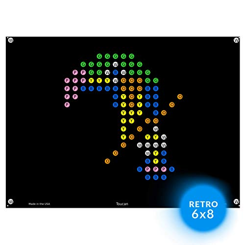 lllumiPeg Lite Brite Magic Screen Refills - Zoo Animal Art Templates (12 Sheets)