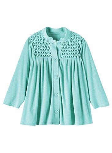 AmeriMark Terry Knit Bed Jacket Aqua