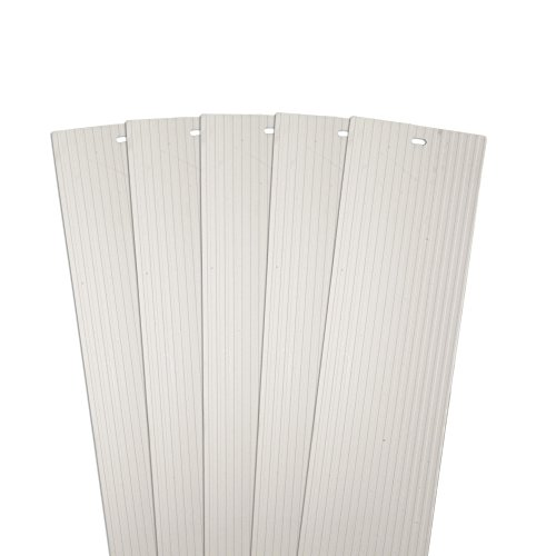 DALIX Ribbed Window Replacement Blinds Vertical Slats Ivory 82.5