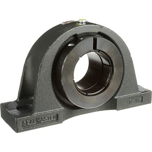 """Sealmaster NP-23T Pillow Block Ball Bearing, Non-Expansion Type, Normal-Duty, Regreasable, Skwezloc Collar, Felt Seals, Cast Iron Housing, 1-7/16"""" Bore, 1-7/8"""" Base to Center Height, 5"""" Bolt Hole Spacing Width from Sealmaster"""