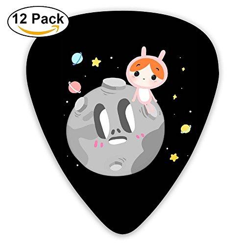 (Skull Pilot Comic Custom Guitar Picks 12 Pack Set Celluloid Medium Paddles Plectrums 0.46mm/0.71mm/0.96mm Instruments Bass For Guitarist Players Beginner)