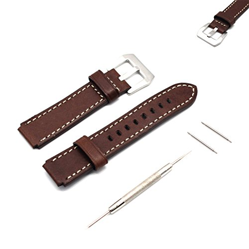 Huawei Watch 18mm Replacement Band - MOTONG 18mm Itlay Leather Repalcement Band For Huawei Watch Band And Huawei Fit