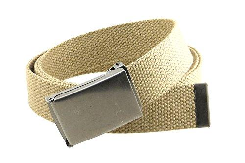 Buckle Antique Silver (Canvas Web Belt Flip-Top Antique Silver Buckle/Tip Solid Color 50