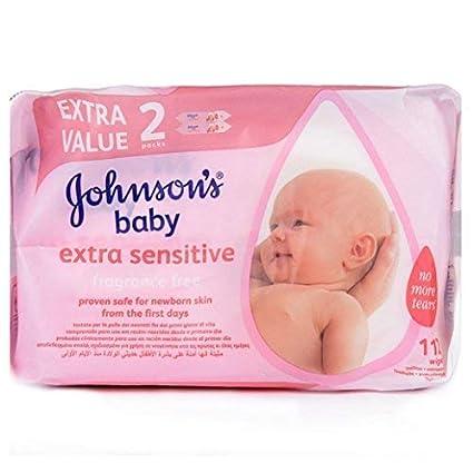Johnsons paquete de 2 paquetes de toallitas 112 piezas
