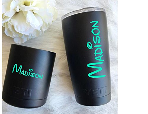 Personalized Name Vinyl Decal Sticker For Walls, Yeti Cups, Car Windows, Laptops, ()