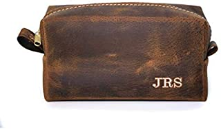 product image for Exotic Boar Leather Dopp Kit, Toiletry Bag, Groomsmen Gift, Father's Day Gift, Shaving Bag, Gift for Men, Handmade in Arizona, USA