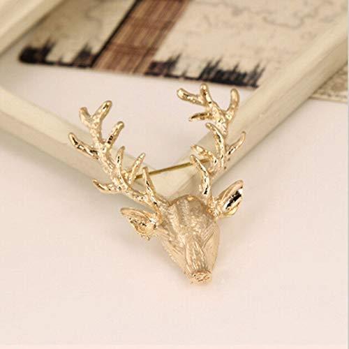 (Funnmart Sika Deer Ladybug Cat Girl Leaf Pin Enamel Crystal Flower Animal Brooch for Women Girl Scarf Suit Collar Lapel Pin Jewelry Gift)